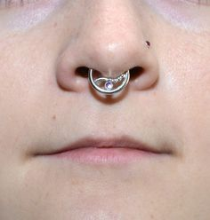 This is a listing for one (single) amethyst septum ring made of sterling silver.  I always pay attention to small details like rounding wire ends