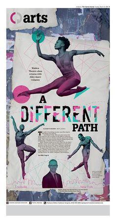 """""""A Different Path"""" Louisville Courier-Journal Arts designed by Andrea Brunty. (03.13.16) #newsdesign"""