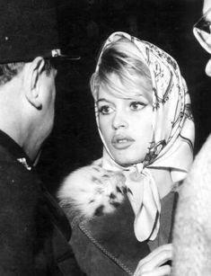 Brigitte Bardot, silk scarf, 1960's.