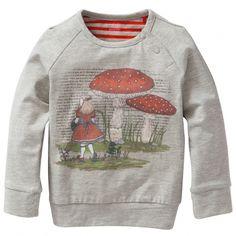 "Oilily Langarm-Shirt ""Tod"" Alice mit Fliegenpilz Grau 86"