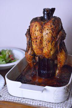 Pieczony kurczak na butelce Quesadilla, Tandoori Chicken, Poultry, Main Dishes, Mango, Food And Drink, Turkey, Ethnic Recipes, Blog
