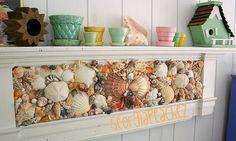 Sea Shell Mantle Shelf.  Georgiapeachez.com