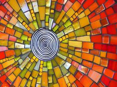 Mosaikkunst-Mosaik-Schale Teller Schale groß von NewArtsonline