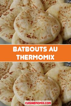 Thermomix batbouts are pan-fried flat breads found in traditional Maghreb cuisine. With the Thermomix, nothing is easier than preparing the batter. Flatbread Recipes, Crepe Paper Flowers, Ramadan, Creative Food, Cinnamon Rolls, Yummy Food, Nutrition, Pains, Cooking