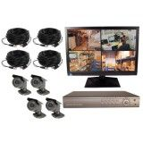 4 Channel Wired Digital Video Recording Complete System with Monitor