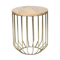 Iron + Mango Wood Accent Table