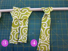 No sew window valance steps 3 and 4 - so clever and EASY