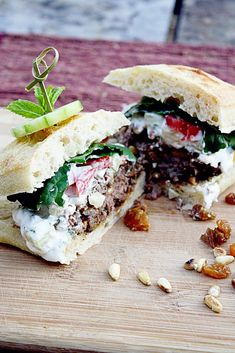 Raisin Lamb Burger with Mint Yogurt Sauce by insockmonkeyslippers #Lamb_Burger