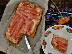 Tarta tatín de bacon y patatas