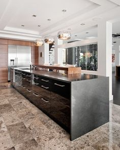 Open To The View - contemporary - kitchen - ottawa - by Design First Interiors