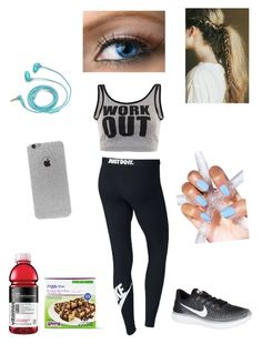 """""""exercise outfit"""" by karibear15 on Polyvore featuring NIKE, LA: Hearts, FOSSIL, men's fashion and menswear"""