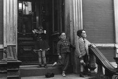 Three Masked Children on Stoop by Helen Levitt on artnet Auctions