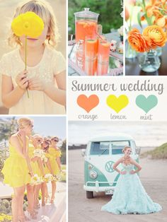 #1 Love these colors, summer wedding inspiration board, color ideas