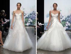 "Monique Lhullier Fall 2012 -- like the dress on the left, ""Sentimental"""