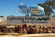 Lightning Ridge is the renowned home of the elusive Black Opal, which has put the small mining town on the map and has over 15 famous mining fields. Aussie Australia, Australia Travel, Lightning Ridge, Lightning Strikes, Australian Black Opal, Fields, Stuff To Do, History, Opal Auctions