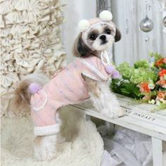 Snow bubble Designer Handmade winter coat for Pets / by JunyBell, $75.00