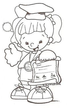 Graduación - Lucía Gómez - Picasa Web Albums People Coloring Pages, Colouring Pages, Coloring Books, Toddler Class, School Clipart, Chicken Scratch, Graduation Cards, School Gifts, Baby Milestones