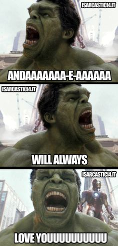 Not only is this funny because it's the Hulk, but the youth ministry at my church has a joke about this song now...