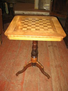 Victorian Italian Mixed Woods Games Table - Antiques Atlas, $590