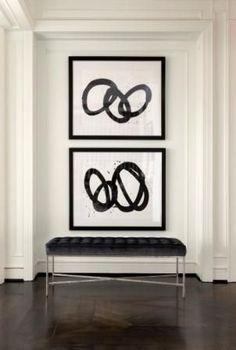 Blanco Interiores: Halls a preto e branco!