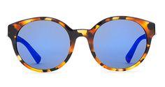 Tortoise shell & bright blue sunnies (ETNIA Barcelona)