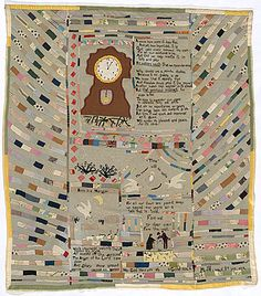 "Mary Jane Hannaford. ""Time"" quilt. 1924."