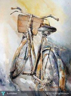 Старый цикла в художника MASUM