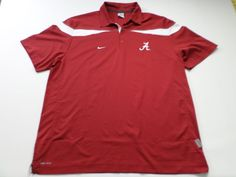 Nike Dri Fit University of Alabama Polo Shirt Mens Size XL XLarge NCAA Golf #Nike #PoloRugby