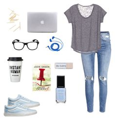 """☽Me today☾"" by ms-believer ❤ liked on Polyvore featuring H&M, Vans and FOSSIL"