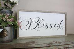 Blessed Wood 1'x2' Framed Sign