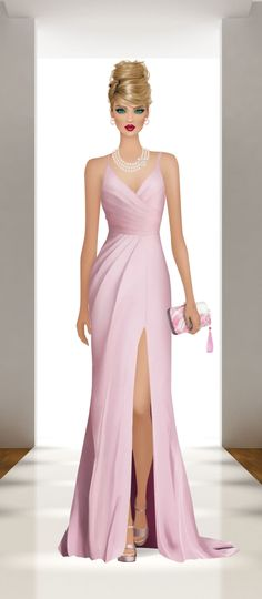 Fashion Dolls, Fashion Art, Fashion Design, Award Show Dresses, Evening Dresses, Prom Dresses, Vestidos Plus Size, Covet Fashion Games, Elegant Woman