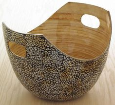 Eggshell & Bamboo Bowl