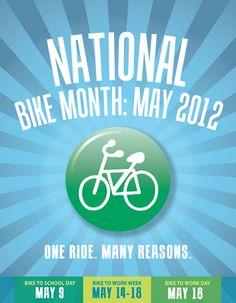 National bike month is just around the corner!