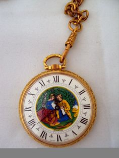 NOS Deadstock Pocketwatch with Chain on Etsy at RetroRosiesVintage. SOLD.