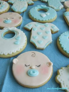 Battesimo gemelli!!!  Baby shower cookies