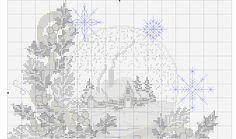 Snow Ball 3/4 [Pattern / Chart] [Christmas - Cross Stitch]