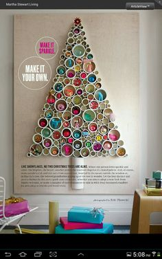 PVC Wall Tree with ornaments
