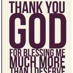 Thank You, God, for blessing me... #God amen