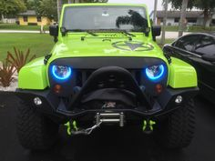 "Easy Install Halos ""Multi-Colored COBs"" for the Jeep Wrangler"