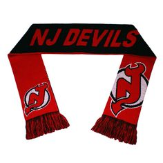 Forever Collectibles NHL New Jersey Devils Reversible Split Logo Scarf
