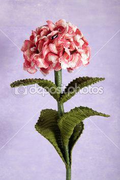 hortênsia de flores azuis de crochê — Foto Stock © motorino125 #11804581