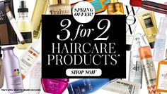 Get shiny, bouncy hair for spring with 3 for 2 on haircare!