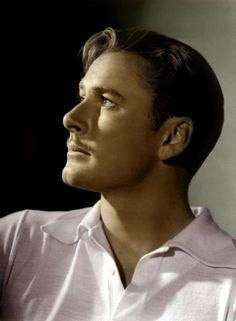 Errol Flynn, so handsome,love his profile.