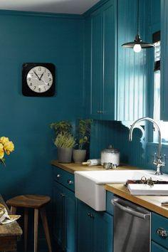 Blue All Over #small #kitchen #ideas #kitchendesign