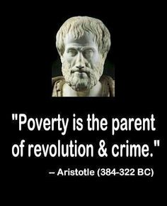 Poverty is the real reason behind the high rate of inner city crime and gangs. Not minorities, Not lazy people. Not drugs. POVERTY.