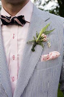Gents, this is seersucker. women are suckers for some good seersucker. groom, summer look, wedding Wedding Groom, Wedding Men, Wedding Suits, Wedding Attire, Summer Wedding, Wedding Styles, Our Wedding, Dream Wedding, Wedding Unique