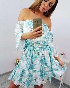 0a25625d1fe1 Šaty s kvetinovým vzorom mätové. Dámske šaty kvietkované mätové