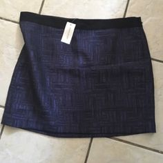"BNWT Banana Republic skirt 14 Beautiful detailed skirt I'm going to call ""burple"" - blue/purple. Black ribbon detail at the waist. Rear zipper and hook closure. Skirt is lined. Approx 18"" waist, approx 17"" in length.✅ offers ❌ trades bundles save 20% off 2+ Banana Republic Skirts"
