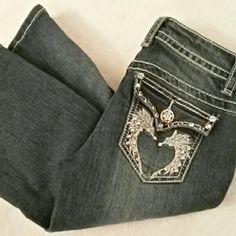 Papaya Jeans Jeans by Papaya. Size 1. These are perfect EXCEPT for the three little gems that are missing from the main button above the zipper. ALL other details are intact and the bottoms are not frayed or worn at all. These were tried on but never worn outside. No trades or paypal. Bundle for discounts. Papaya Jeans Boot Cut