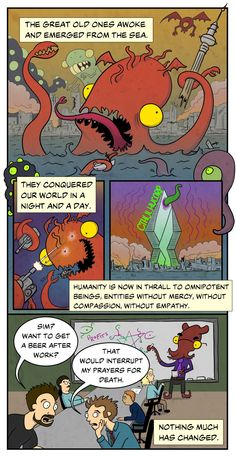 THE BEGINNING OF THE END   Cthulhu Slippers - a really funny webcomic